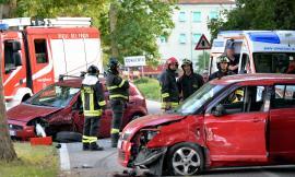 Urbisaglia, scontro tra auto: tre feriti, uno portato a Torrette