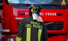 Sant'Angelo in Pontano, bosco in fiamme
