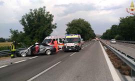 Pollenza, riaperta la superstrada dopo l'incidente