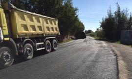 Iniziati i lavori di pavimentazione sulla Montefano - Recanati