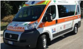 Monte San Giusto, scontro tra auto e furgone: un ferito portato in ospedale