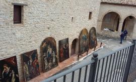 Sisma, a Serrapetrona tornano le opere recuperate