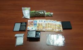 Macerata, sequestrati 90 grammi di droga e soldi contanti: arrestato un 24enne