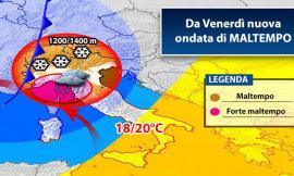 Meteo, arriva il grande freddo: brusco abbassamento delle temperature nel week-end