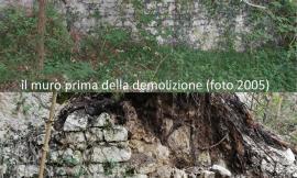 San Severino Marche, abbazia Sant'Eustachio: ancora un'ingiuria, demolite in parte le murature residue