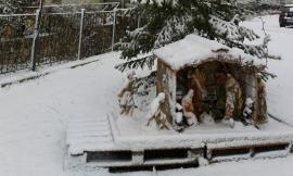 Visso e Castelsantangelo sul Nera imbiancate: copiosa nevicata in corso (FOTO E VIDEO)