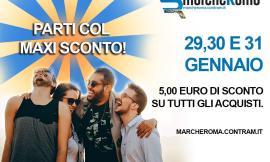 Marcheroma Contram, il 29, 30, 31 gennaio maxi sconto sulla linea di Roma