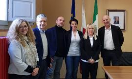 San Severino, visita istituzionale dei parlamentari marchigiani M5S dal Sindaco Piermattei