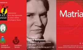 """Sarnano, rassegna """"Matria"""": la scrittrice Silvia Ballestra parlerà di Joyce Lussu"""