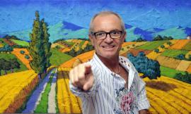 Il pittore Calisti visita la scuola dell'Infanzia Helvia Recina