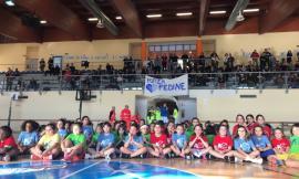 """Successo per il """"Pink Day"""" a Civitanova Alta: grande festa del minibasket femminile nella casa della Feba"""