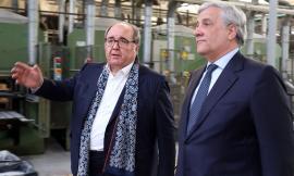 Antonio Tajani visita la cooperativa Pars di Corridonia e gli imprenditori maceratesi