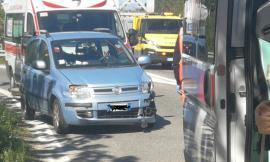Incidente in superstrada all'altezza dell'uscita di Pollenza: 2 vetture coinvolte e 3 feriti (FOTO)
