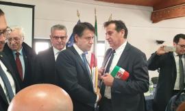 Il sindaco di San Ginesio a Norcia per l'incontro con il premier Giuseppe Conte