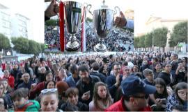 Civitanova, bagno di folla in piazza per i giocatori della Lube (FOTO e VIDEO)