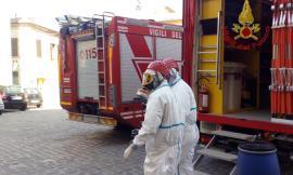 Montelupone, sostanza radioattiva dal parafulmine della torre civica: intervengono i Vigili del Fuoco (FOTO)