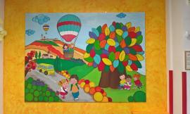 """Morrovalle, concluso il progetto """"Artisticamente"""" della scuola Via Giotto con un grande quadro"""