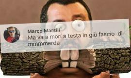 Camerino, augura la morte al ministro Salvini: bufera social sul neo consigliere Marsili