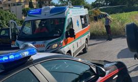 Civitanova, 85enne cade dalle scale: trasportata a Torrette con l'eliambulanza (FOTO E VIDEO)
