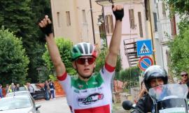Il campione italiano juniores Giammarco Garofoli vince la Recanati-Pieve Torina