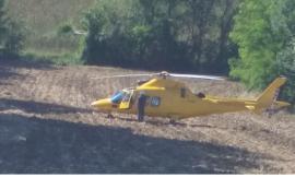 Esanatoglia, cade sulla pista da cross: 11enne trasferito a Torrette in eliambulanza