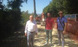 """Monte San Giusto, frana sulla strada provinciale """"Fermana"""": proseguono i lavori di ripristino"""
