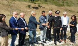 """Visso, posata la prima pietra per la nuova sede provvisoria del Parco dei Sibillini. Gentilucci: """"Un passo di rinascita"""""""