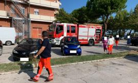 Porto Recanati, incendio al dodicesimo piano del Condominio Pineta: vasto dispiegamento di mezzi di soccorso (FOTO)