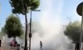Porto Recanati, auto in fiamme in corso Matteotti (FOTO E VIDEO)