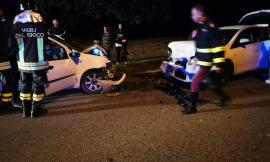 Corridonia, scontro frontale tra due auto: 4 ragazze al pronto soccorso (FOTO)