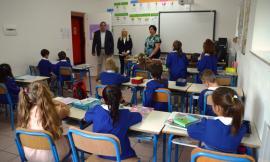 San Severino, primo giorno di scuola: il sindaco Piermattei incontra gli alunni