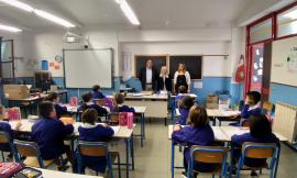 San Severino, nuovo anno scolastico: il sindaco Piermattei in visita al plesso di Cesolo