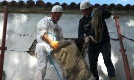 Arquata Del  Tronto, recuperato l'antico leone della Chiesa di San Pietro a Borgo (FOTO)