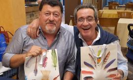 Doppio pensionamento a Caldarola, festa per Fabio Lambertucci e Giancarlo Cecchini
