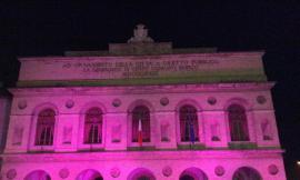 """Lo Sferisterio si illumina di viola per la """"Giornata Mondiale per la lotta al Tumore al Pancreas"""""""