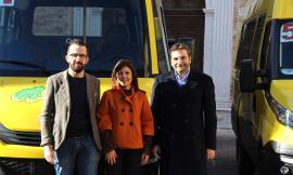 Monte San Giusto, presentati 6 nuovi scuolabus di ultima generazione (FOTO)
