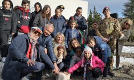 Pieve Torina, grande festa per la posa della prima pietra del centro civico