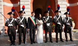 Appignano, le nozze del comandante dei carabinieri Cesare Proietti