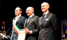 """Treia, Vincenzo Boccia riceve la cittadinanza onoraria: """"Passare di qui porta bene"""" (FOTOGALLERY)"""