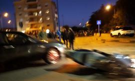 Casette Verdini, scontro tra auto e scooter lungo la statale: un uomo al pronto soccorso (FOTO)