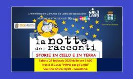 """Corridonia, torna """"La Notte dei Racconti"""": un tocco d'azzurro e tante storie da ascoltare"""
