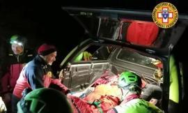 Scivola lungo un sentiero: interviene la squadra del soccorso alpino (FOTO)