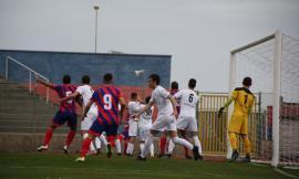 La Sangiustese cade nel derby rossoblù: Montegiorgio vince di rigore