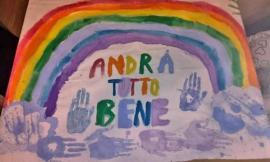 """Corridonia, """"Andrà tutto bene"""": i disegni dei bambini per alleggerire l'emergenza (FOTO)"""