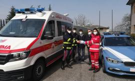 """Camerino, Croce Rossa, Broglia: """"donate 300 mascherine alle Forze dell'Ordine"""" (FOTO e VIDEO)"""
