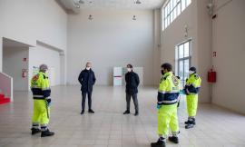 """Civitanova, 100 posti letto alla Fiera. Ciarapica: """"Lavoriamo senza sosta"""" (FOTO e VIDEO)"""