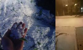 Corridonia, immagini e video della violenta grandinata di questa notte