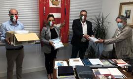 Tolentino, 500 mascherine donate al Comune