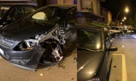 Corridonia, scontro frontale nella notte: coinvolte anche tre auto parcheggiate (FOTO)