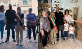 San Severino, festa per la riapertura del Javà Cafè: il sindaco al taglio del nastro